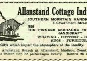 A flyer for the Allanstand Craft shop in 1931
