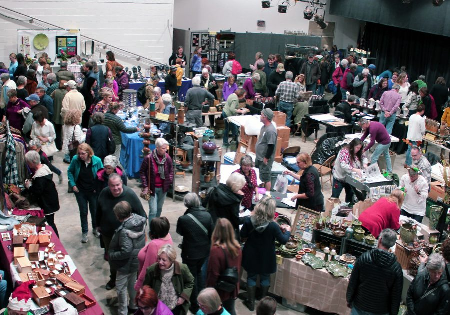 Visitors enjoyed meeting craftspeople as well as getting a bargain last weekend.