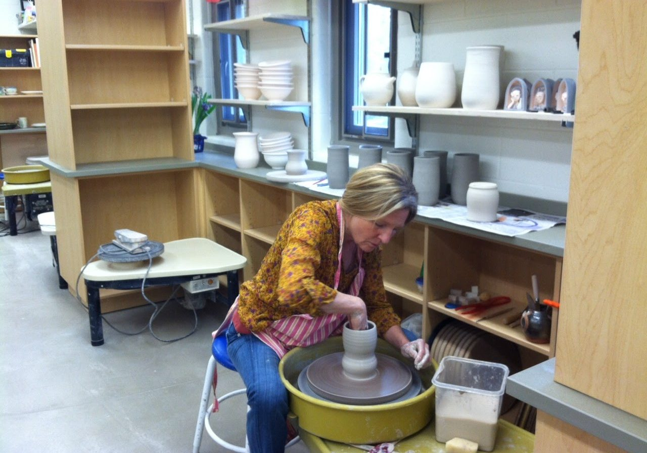 Demonstration in the Pottery Studio