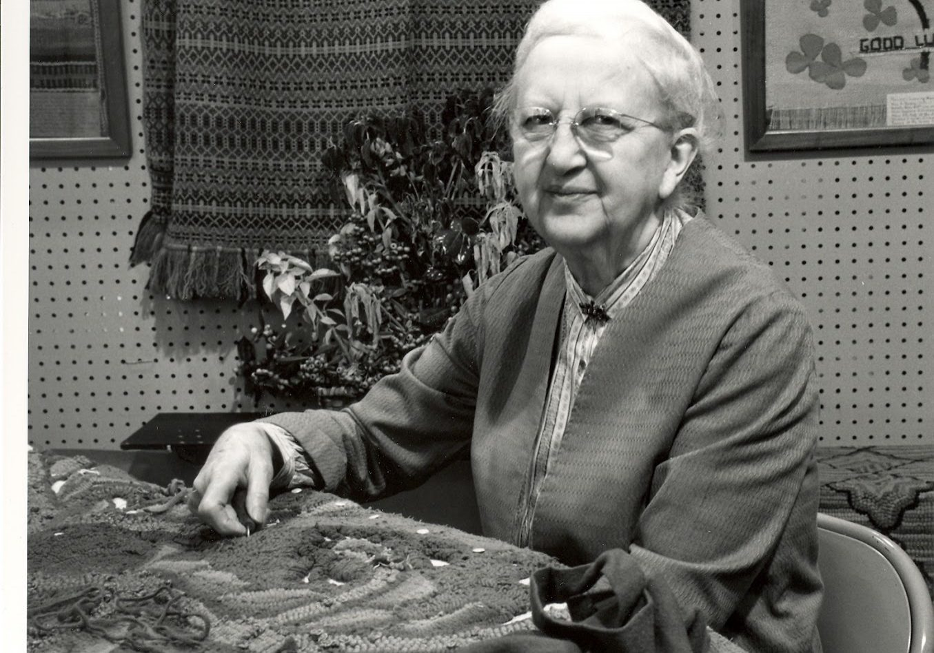 Isadora Williams at the October 1965 Craft Fair of the Southern Highlands