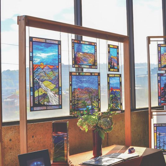 Greg Magruder - Stained Glass Panels