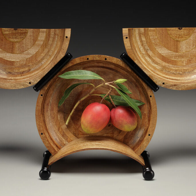 """It Takes Two to Mango"" Box by Ray Jones, Mangos by Jim Sams"