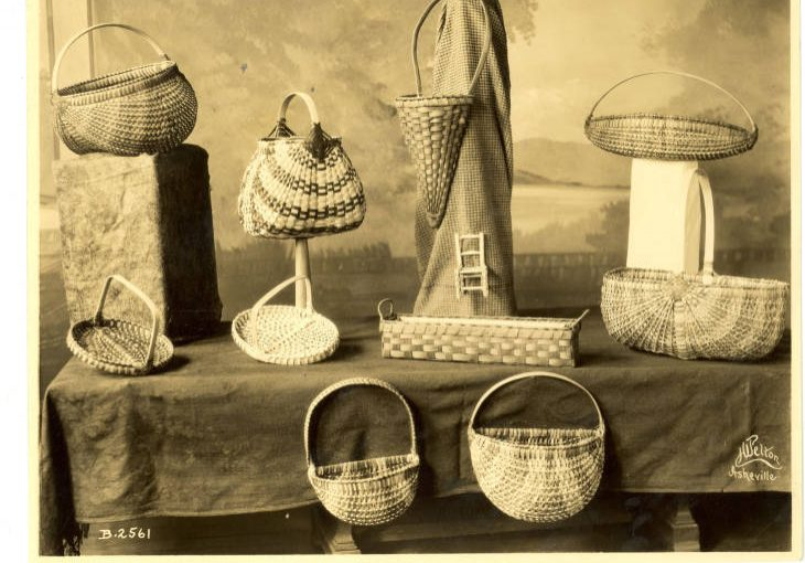 Display of baskets for sale at Allanstand