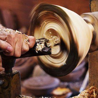 wood turning demo